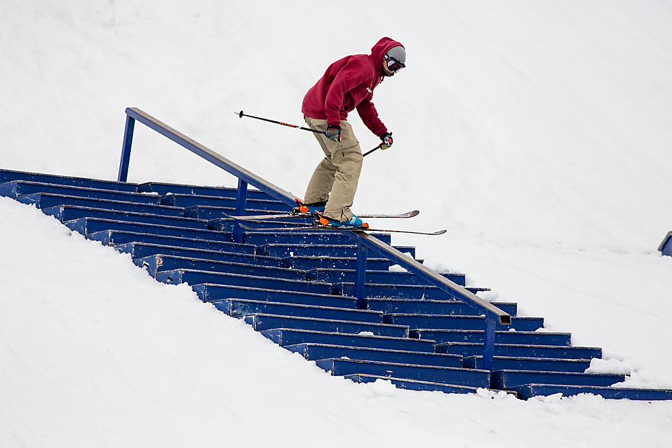 Daniel Walchhofer on the stair-set