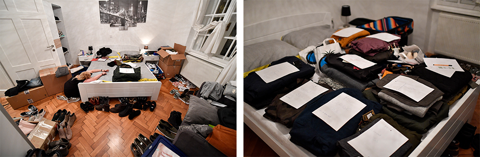 Auch das Koffer packen will gelernt sein