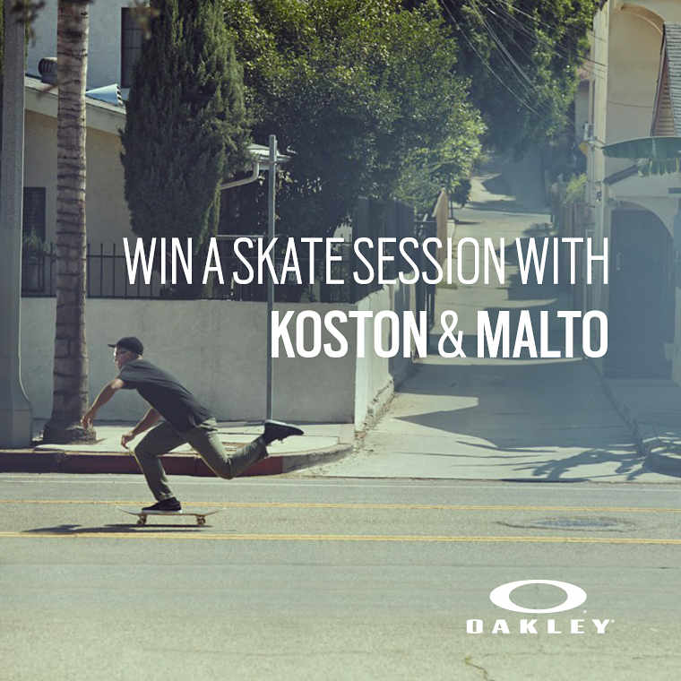 Win a Skate Session with Koston & Malto!
