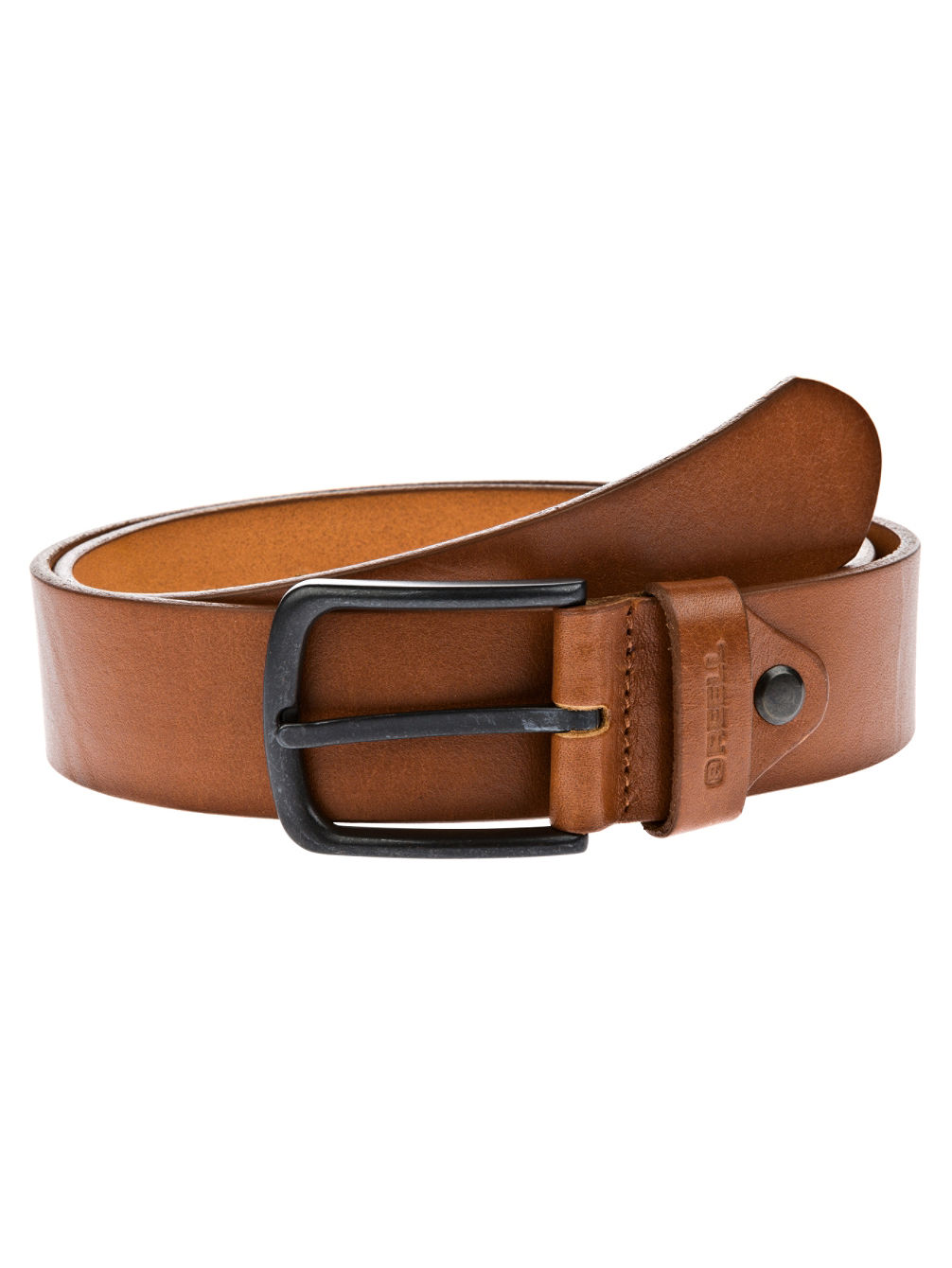 All Black Buckle Gürtel