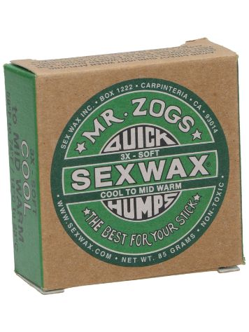 Sex Wax Quick Humps green Soft Surf Wax