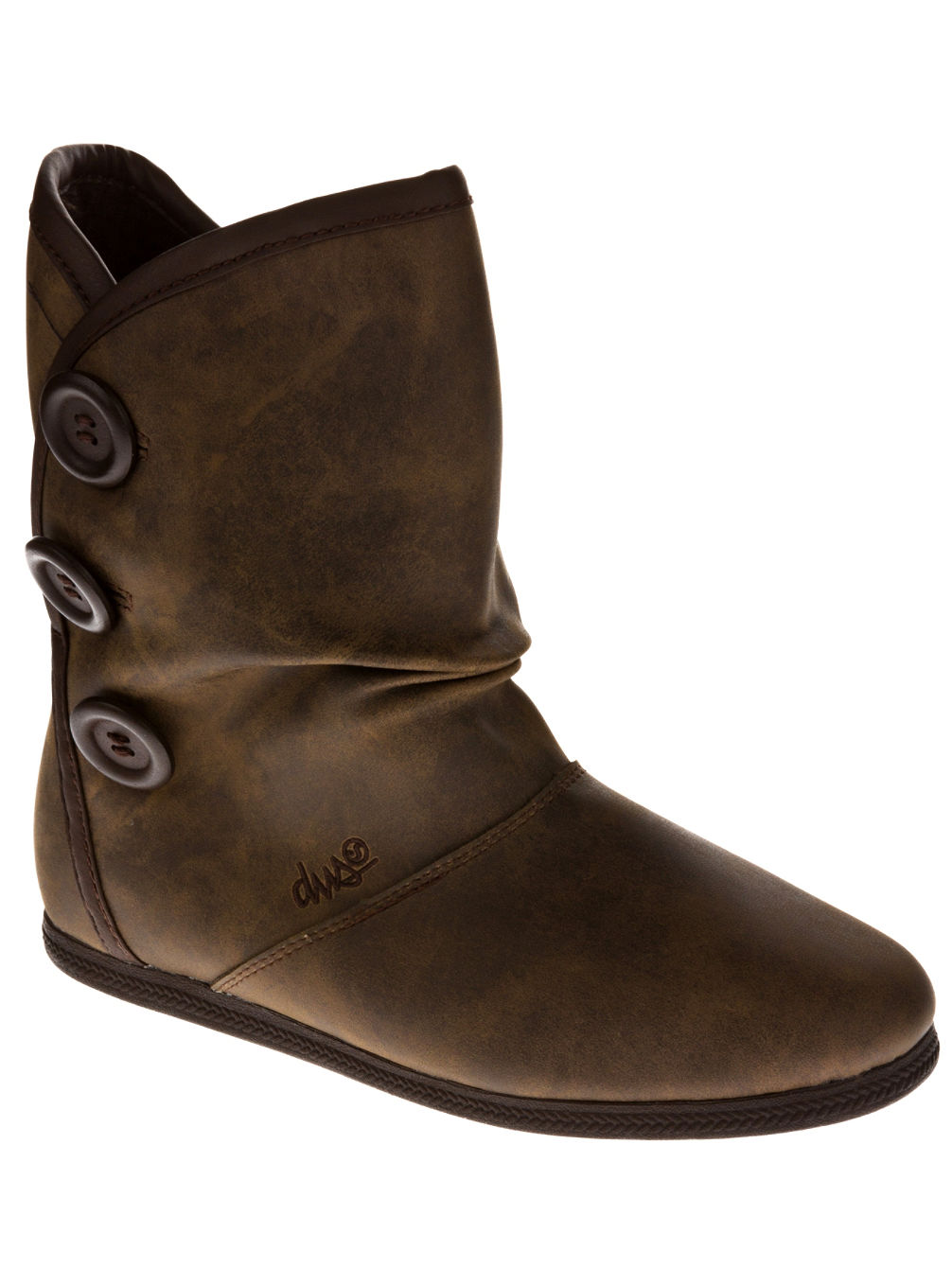Shiloh Button Leather Boots Women