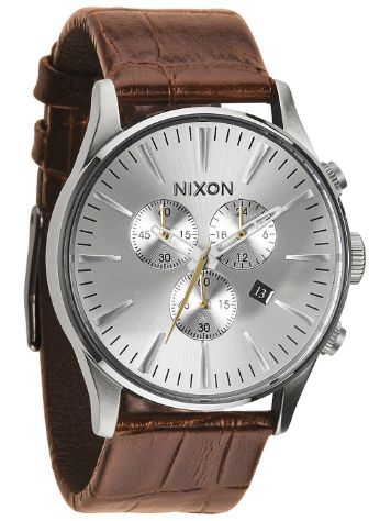 Nixon The Sentry Chrono Leather Orologio
