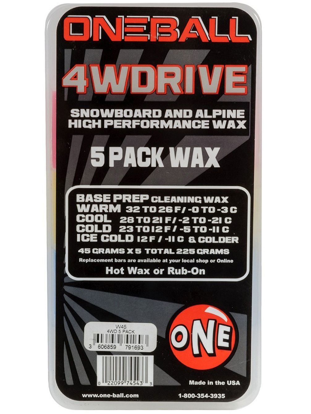 X-Wax 5 Pack Assorted Temps 225g