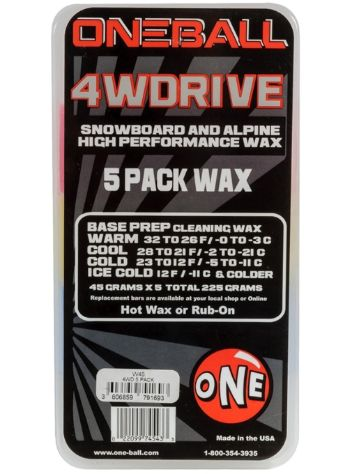 oneballjay X-Wachs 5 Pack Assorted Temps 225g