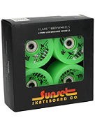 Green 69mm Longboard Wheels