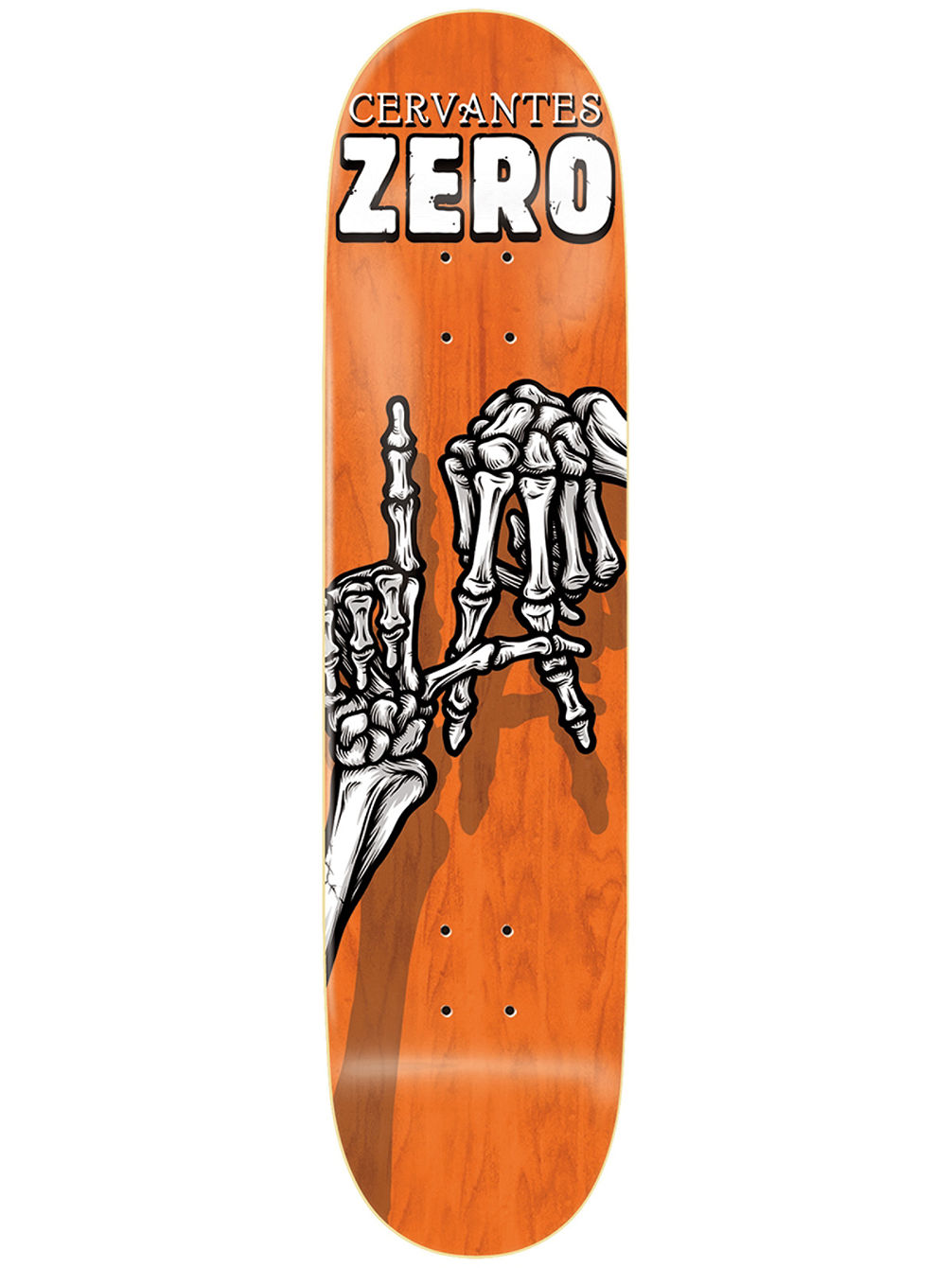 "Cervantes Skeleton Hands 8.125"" Skate Deck"