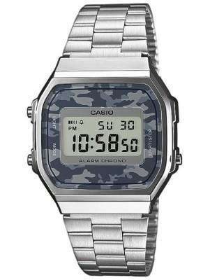 Casio A168WEC-1EF silver / camouflage (blue / g Gr. Uni
