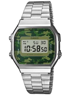 Casio A168WEC-3EF silver / camouflage (green) Gr. Uni