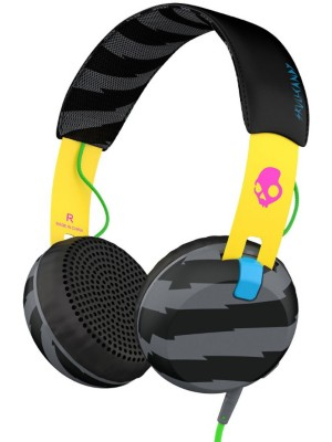 Skullcandy Grind On-Ear W/Tap Tech Headphones locals only / yellow / black Gr. U