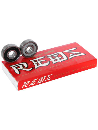 SkateHut Logo ABEC 9 Chrome Steel Rated Bearings Black//Red