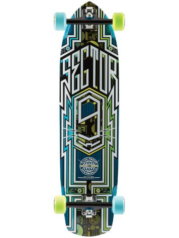 "Sector 9 Carbon Flight 36"" x 9.25"" Blue Complet"