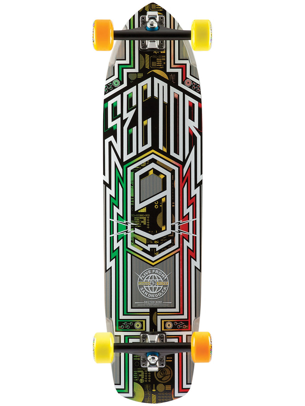 "Carbon Flight 36"" x 9.25"" Rasta Complete"