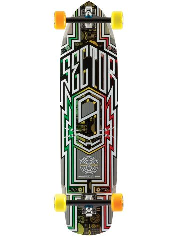"Sector 9 Carbon Flight 36"" x 9.25"" Rasta Complet"