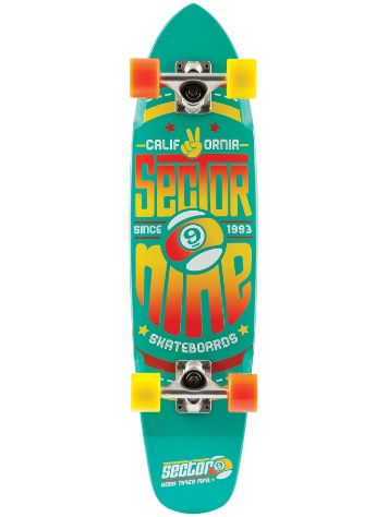 "Sector 9 The Wedge 31.25"" x 7.25"" Teal Blue Compl"