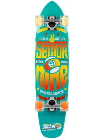 "Sector 9 The Wedge Glow 31.25"" x 7.25"" Teal Blue"