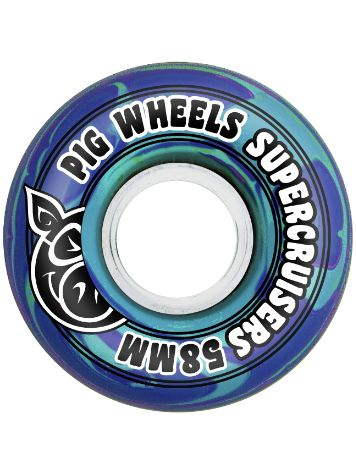 Pig Wheels Supercruiser Swirl 85A 58mm Rollen