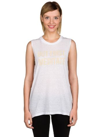 Jiva But First, Meditate Muscle Tank Top