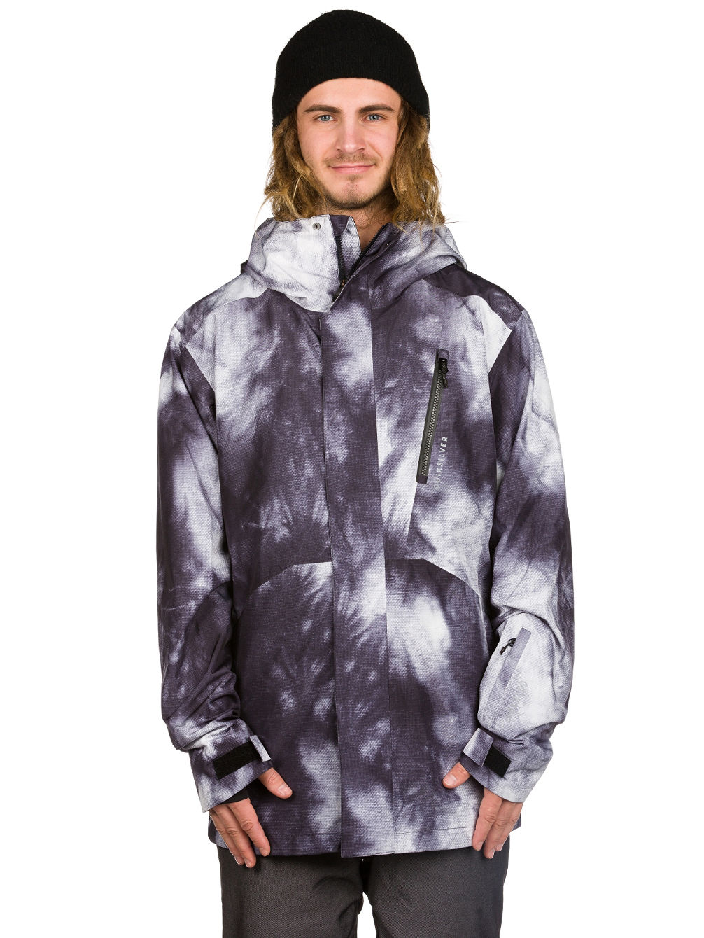 achetez quiksilver forever printed gore tex veste en ligne sur blue. Black Bedroom Furniture Sets. Home Design Ideas