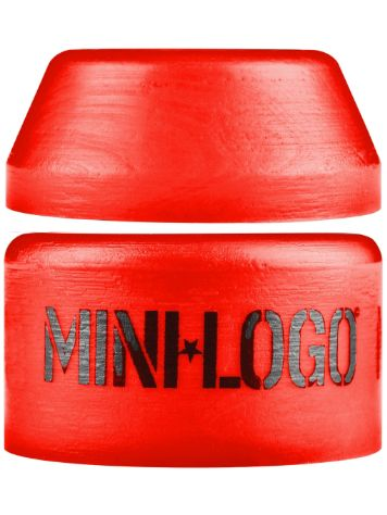 Mini Logo 100A Red Hard Pack Bushings