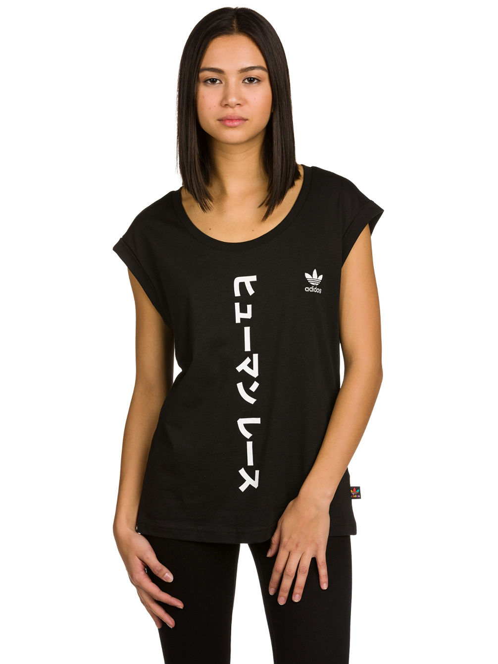 Buy adidas Originals Pharrell Williams HU BF Roll Up T-Shirt online ... 7e99fb5ec2f15