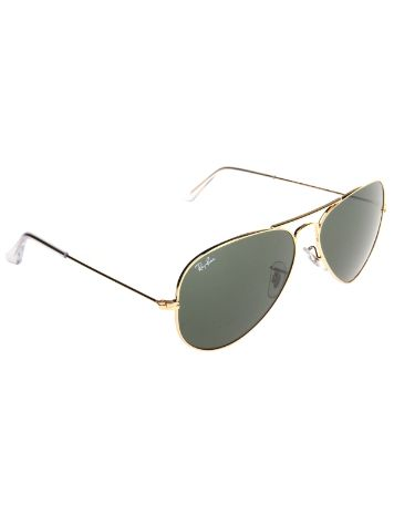 Ray-Ban Aviator Large Metal Gold Solid Lunettes de Soleil