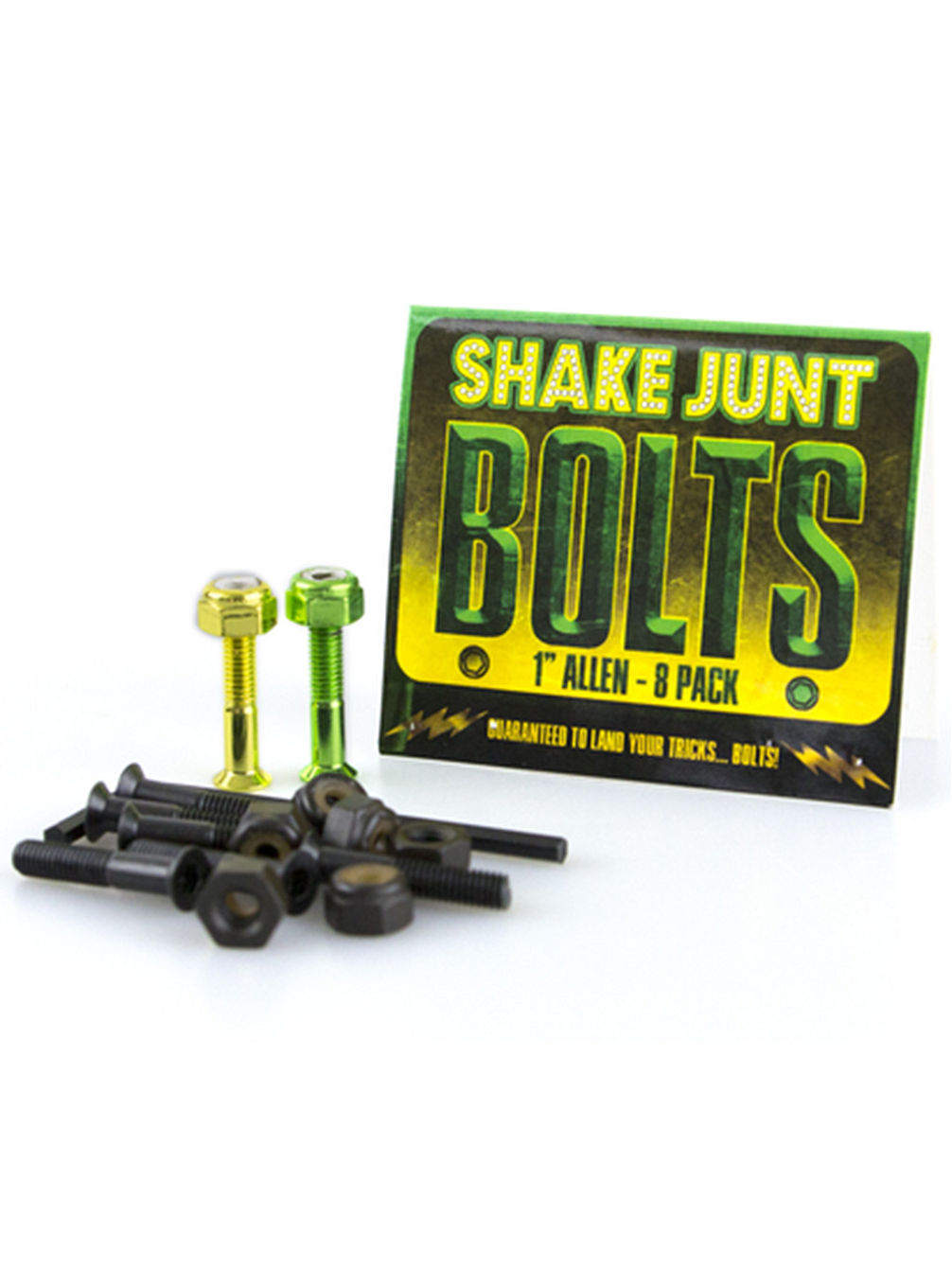 "Green Yellow Inbus 1"" Bolts"