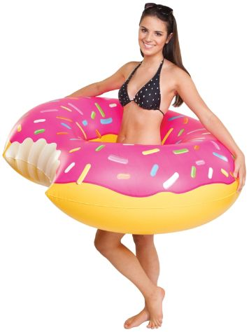 Big Mouth Toys Pool Float Strawberry Donut