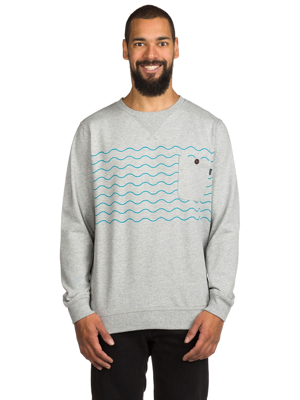 Wavy Party Crew Sweater