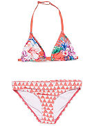 Snow Lotus Triangle Bikini Set Girls