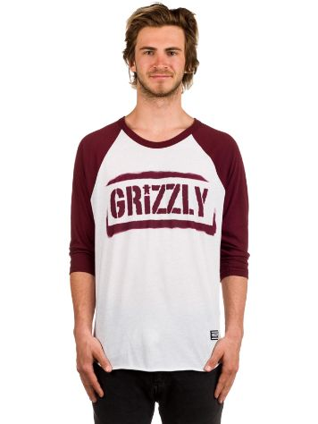 Grizzly Stencil Stamp Raglan T-Shirt