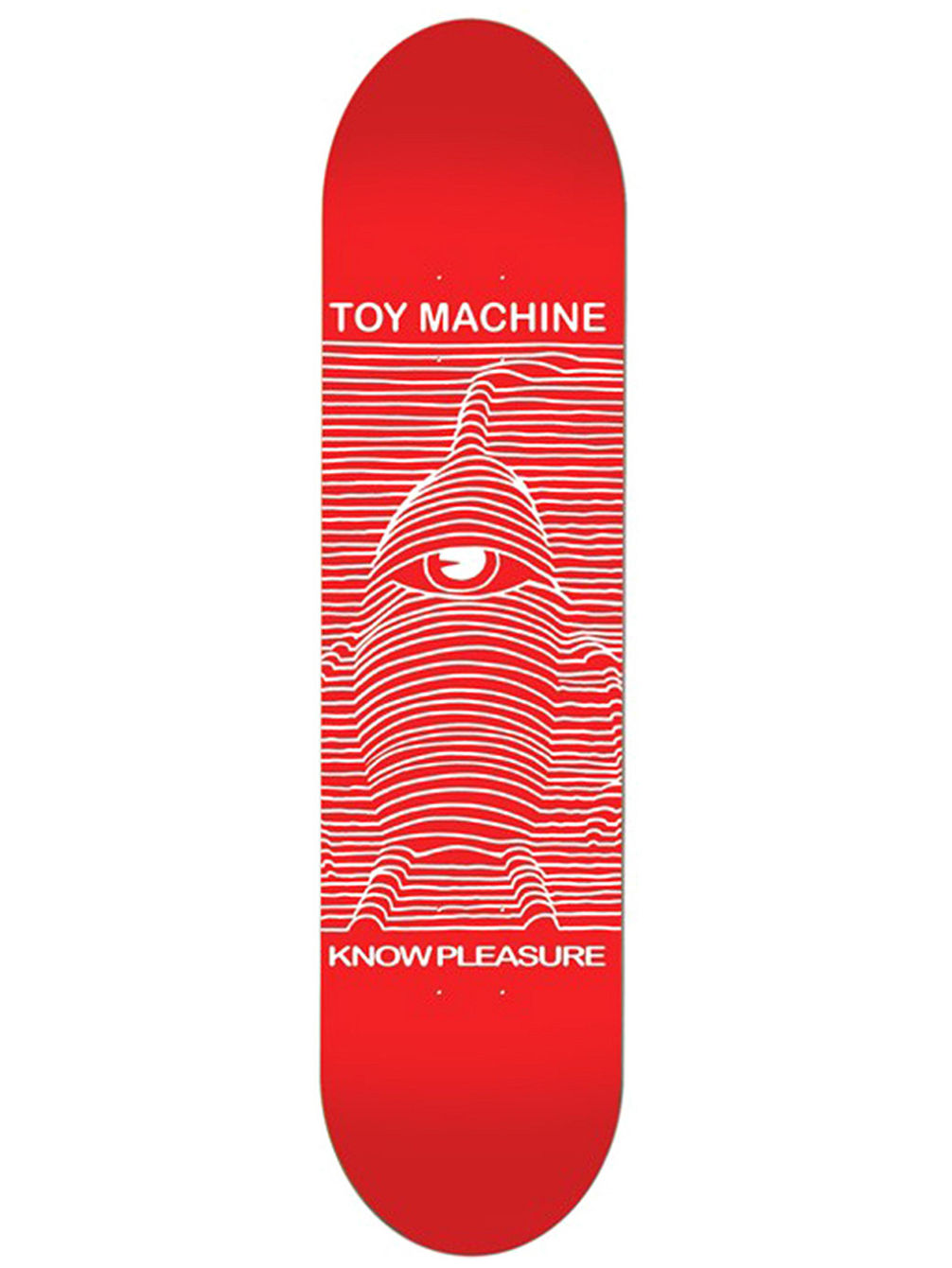 "Toy Division Red 8.25"" Skate Deck"