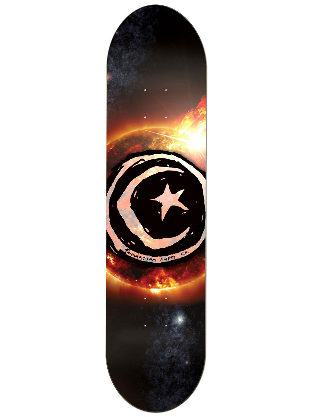 "Star And Moon Sun Flare 8.25"" Skate Deck"