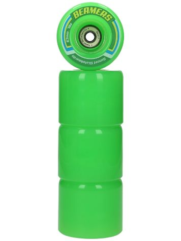 Sunset Skateboards Green 63mm Beamer Rollen