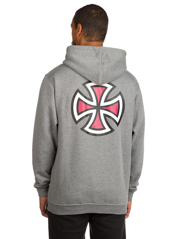 Independent Bar Cross Hoodie dark heather