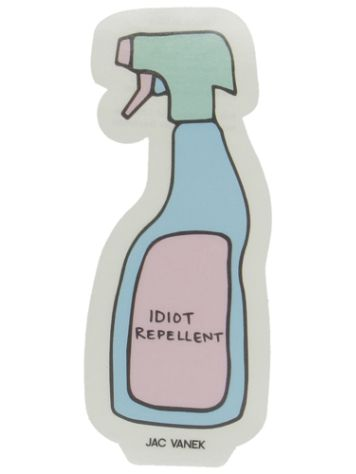 Jac Vanek Idiot Repellent Sticker