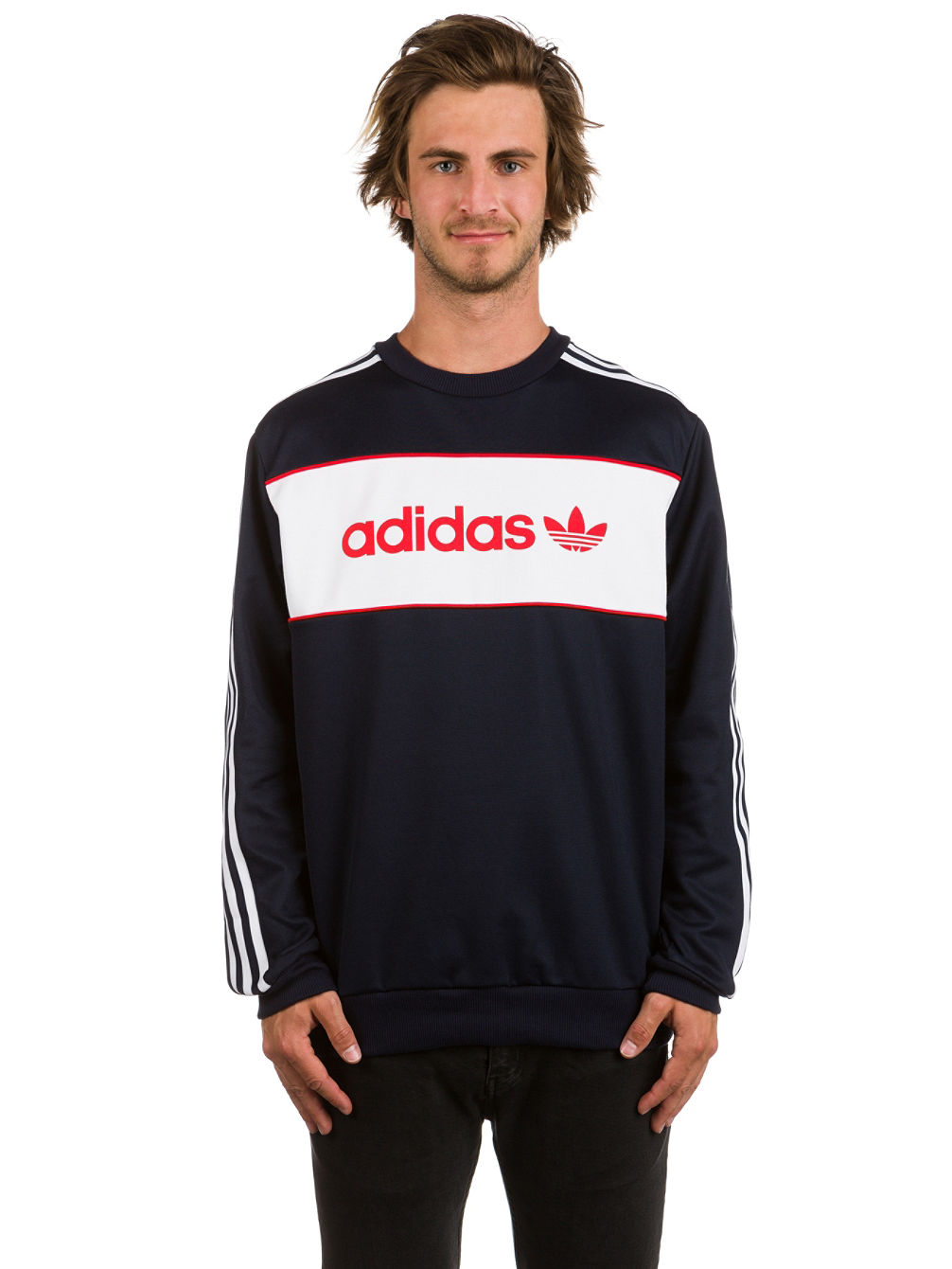 designer fashion detailed look wholesale dealer Adidas Originals Multi Hit Crew Neck Sweatshirt - Nils ...
