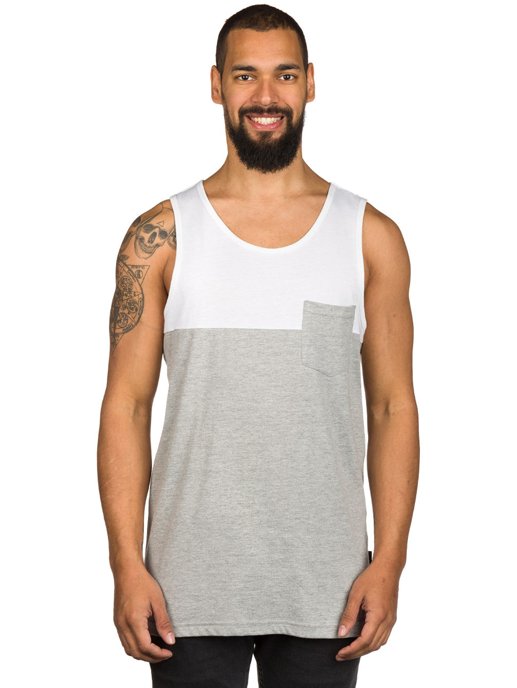 Blocket Pocket Tank Top