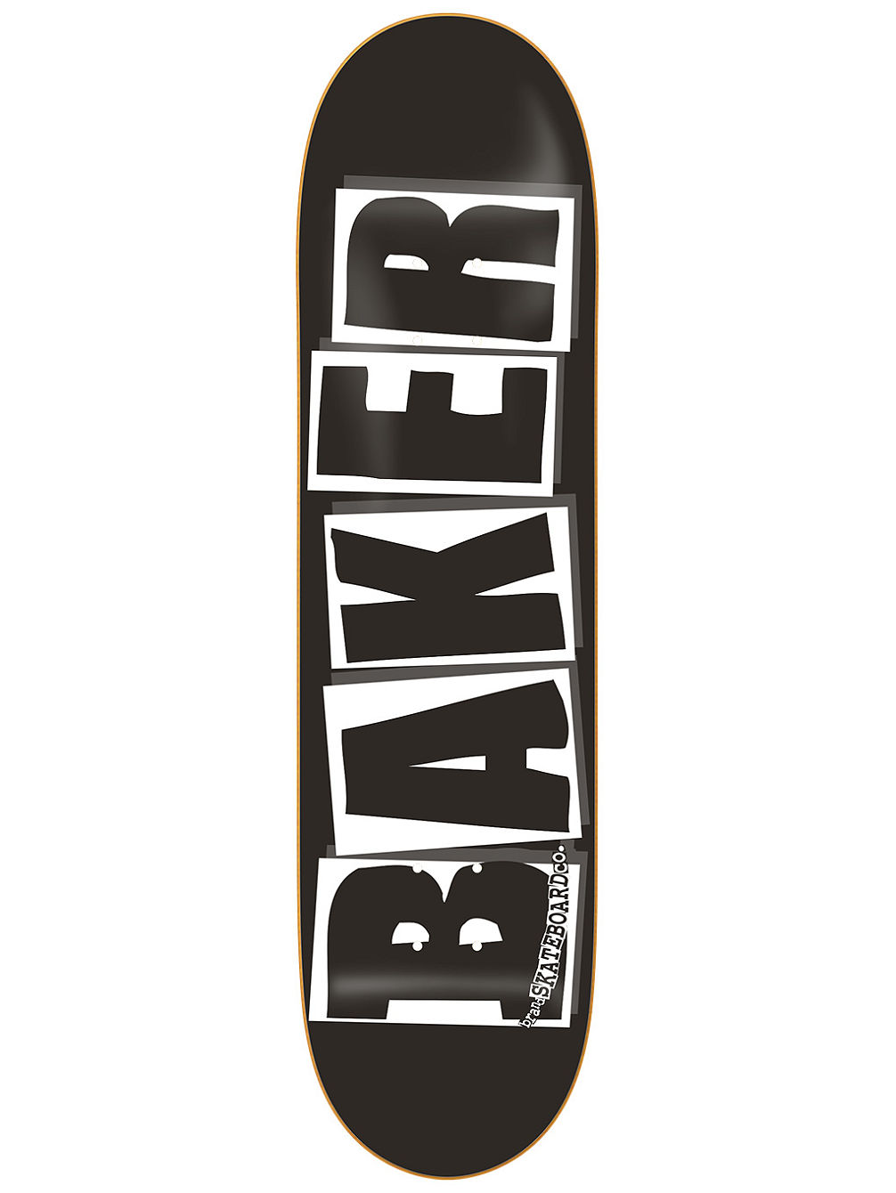 "Brand Logo Black White 8.0"" Skate Deck"