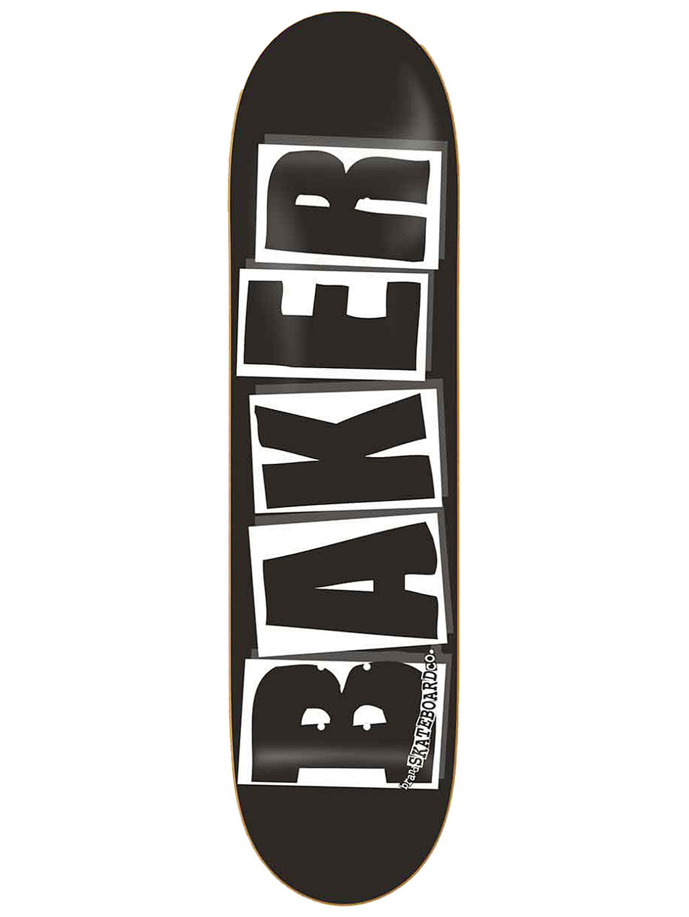 "Brand Logo Black White 8.25"" Skate Deck"