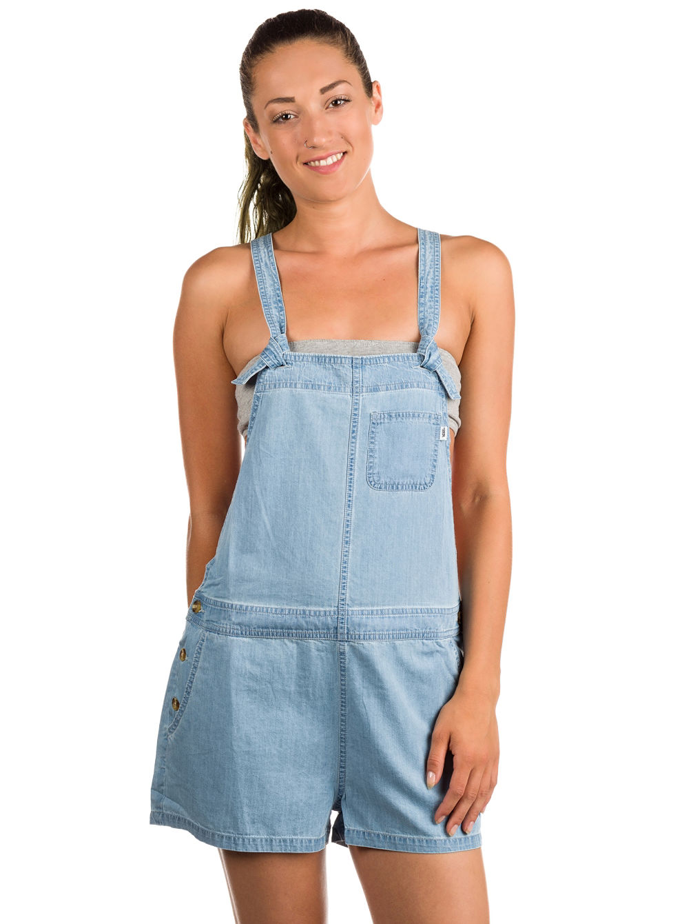 Gulf Coast Denim Short Jumpsuit