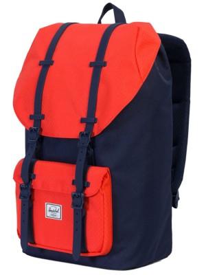 Herschel Little America Backpack peacoat / hot coral Gr. Uni