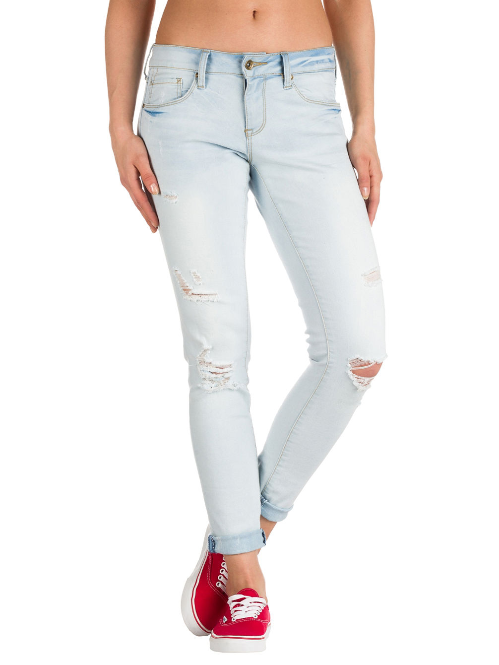 Tessa Sunbleach Destructed Jeans