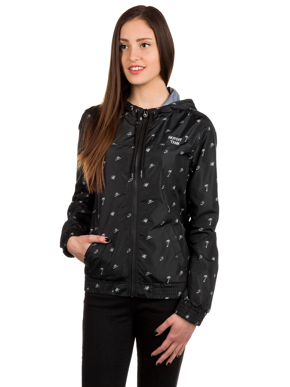 ST Jade Allover Print Windbreaker