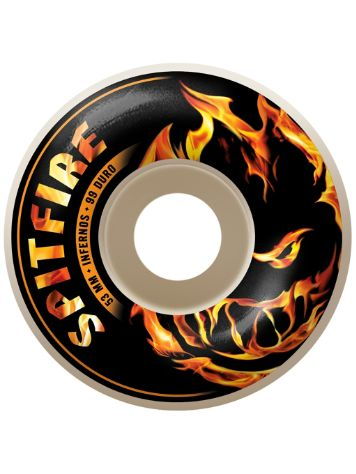 Spitfire Infernos White 53mm Wheels