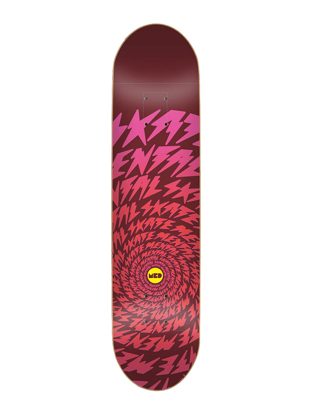 "Bolts Vortex Red 8.25"" Skate Deck"