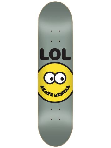 Skate Mental Lol Smiley Face Grey 8.25 Skate Deck