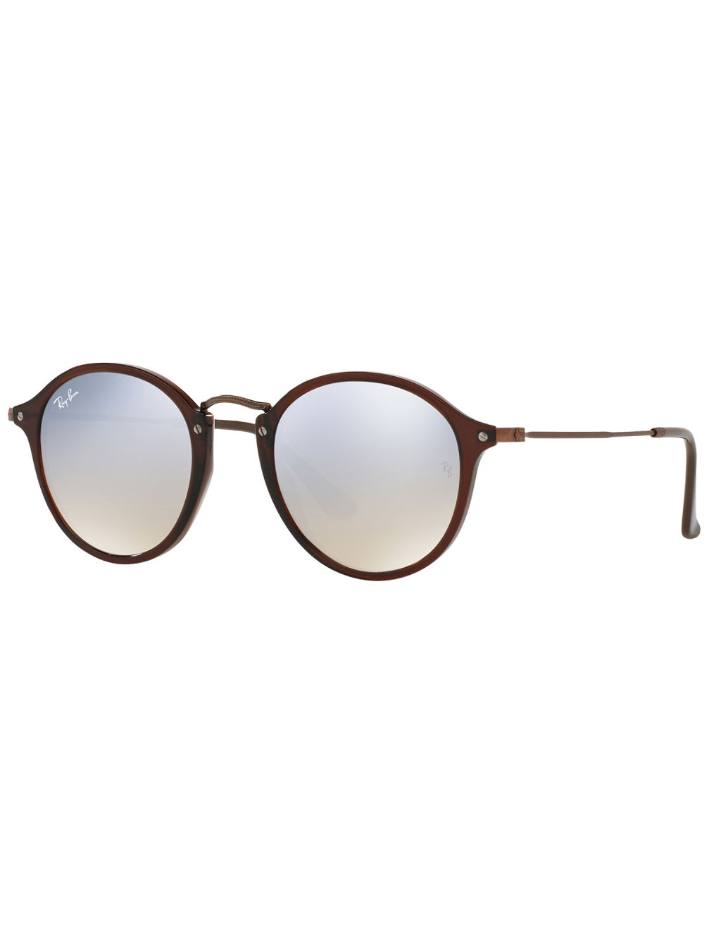 Round Fleck Shiny Transparent Brown Sonnenbrille