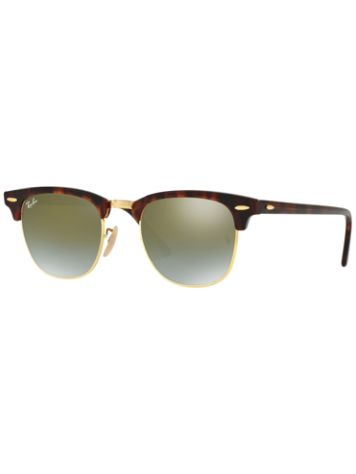 Ray-Ban Clubmaster Shiny Red Havana Sonnenbrille