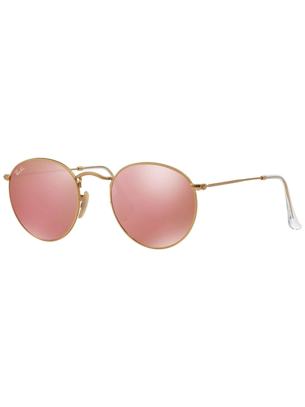 Ray Ban Round Metal Matte Gold Mirror Sonnenbrille Online